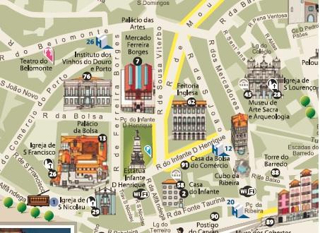 Map Porto Portugal