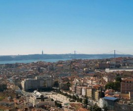 Lisbon - Pombaline Downtown Overview by Filipe Rocha @Wikimedia.org
