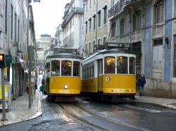 Lisbon - Tram 28 by Heather Cowper @Wikipedia.org